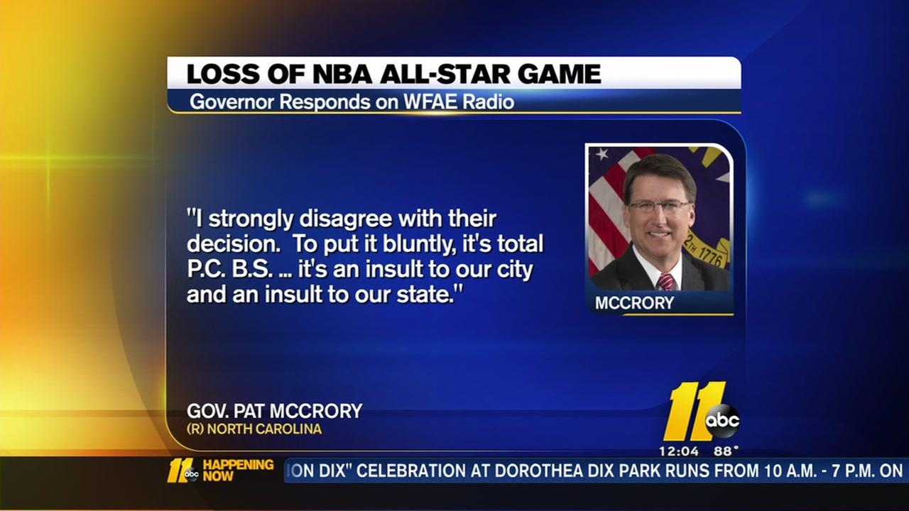 McCrory responds to NBA All-Star loss