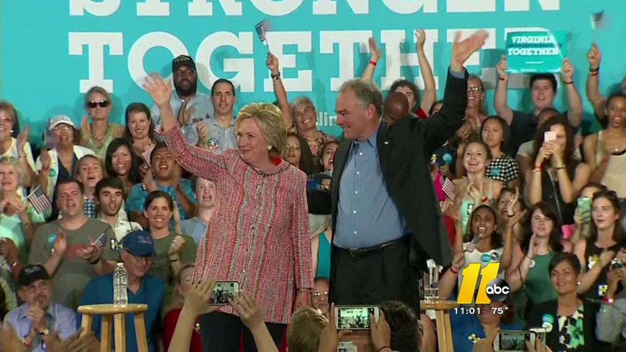 Clinton names Kaine as running mate