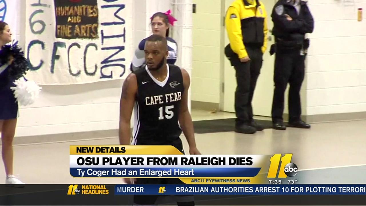 OSU player, Raleigh native dies from enlarged heart
