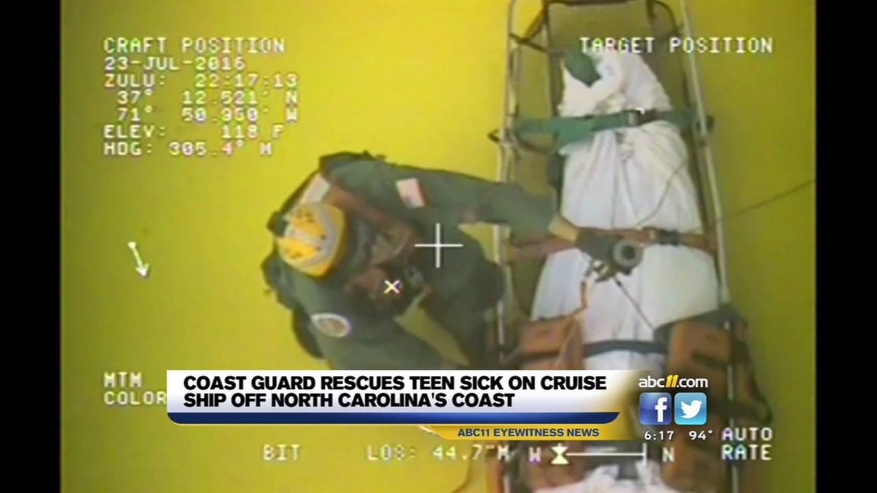 Coast guard rescues teen off coast