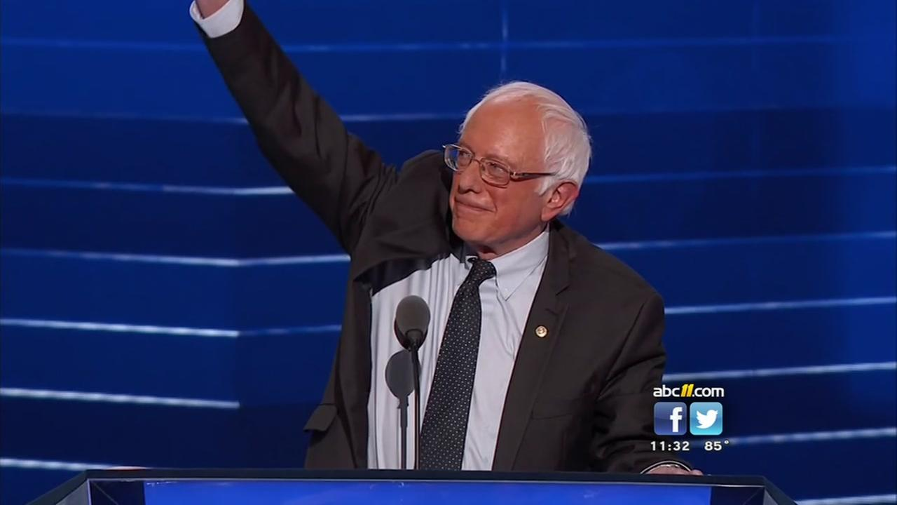 Bernie Sanders energizes crowed at Democratic National Convention