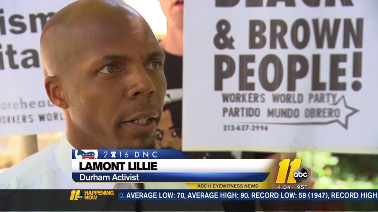 Durham activist in Philadelphia