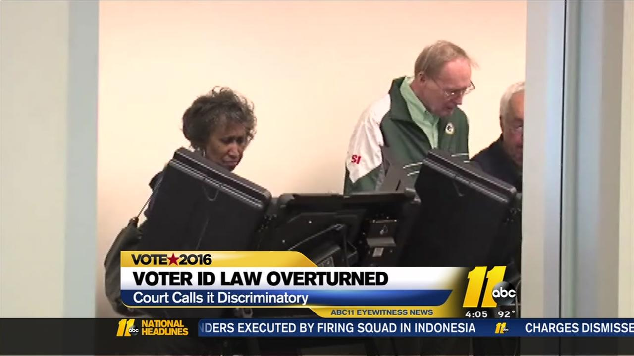 Voter ID law overturned