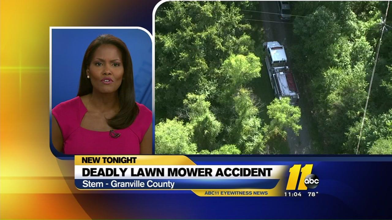 Lawn mower accident