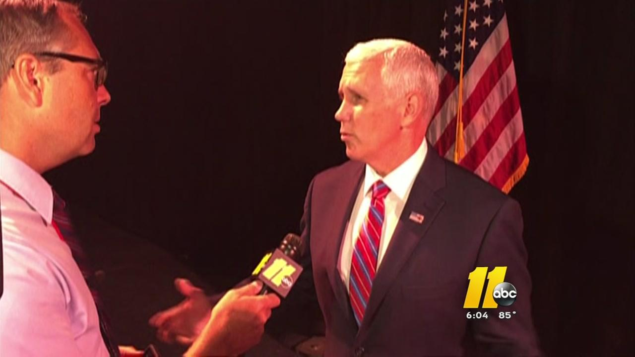 GOP VP nominee Mike Pence talks to ABC11