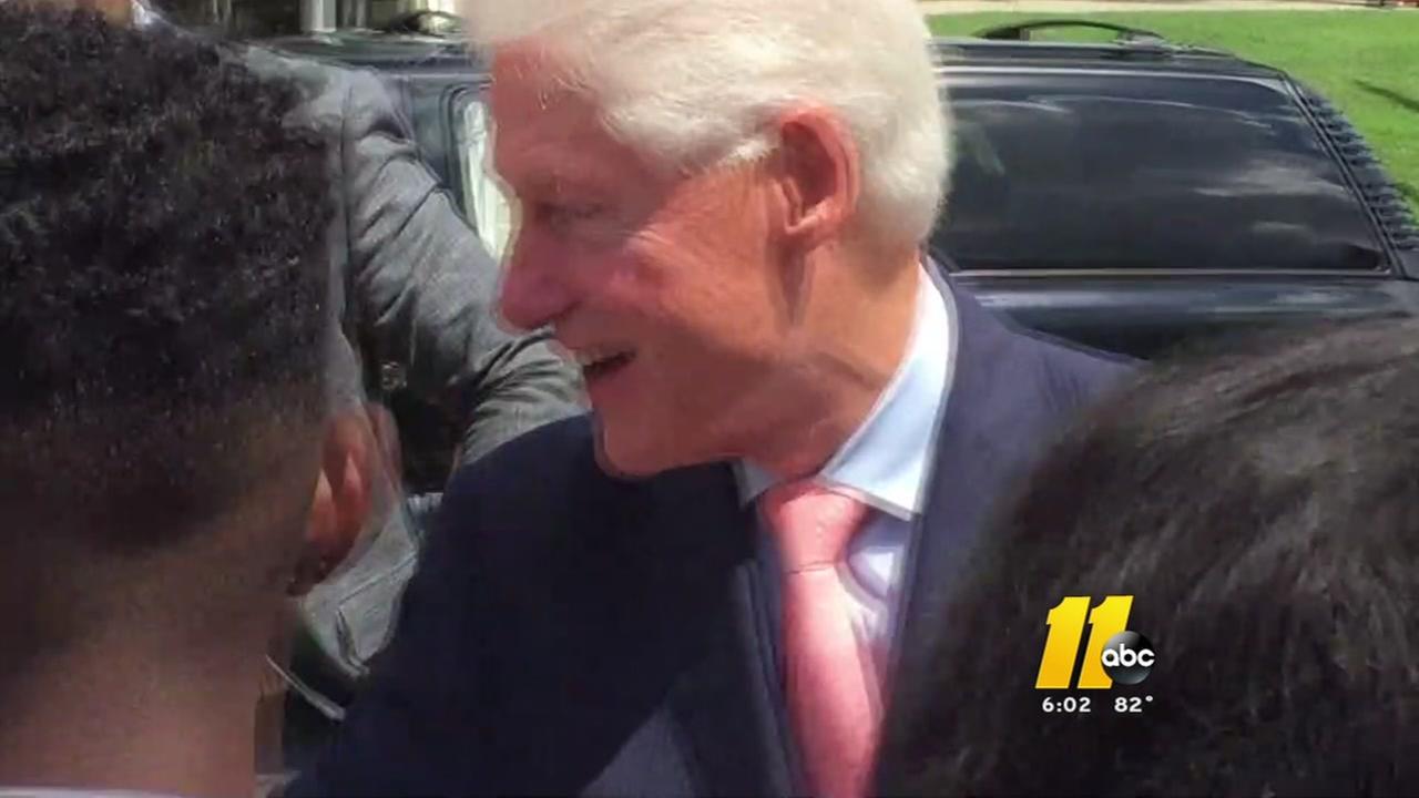 Former President Bill Clinton visits Shaw University