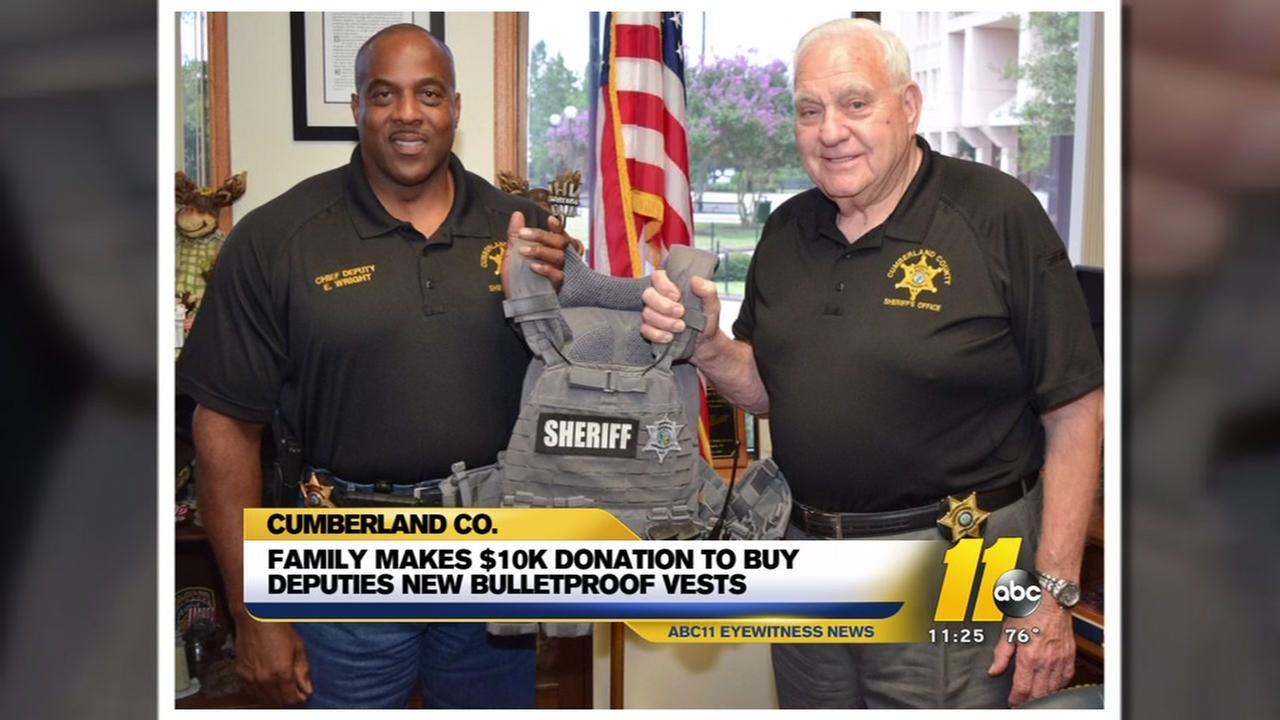 Family makes big donation to Cumberland deputies