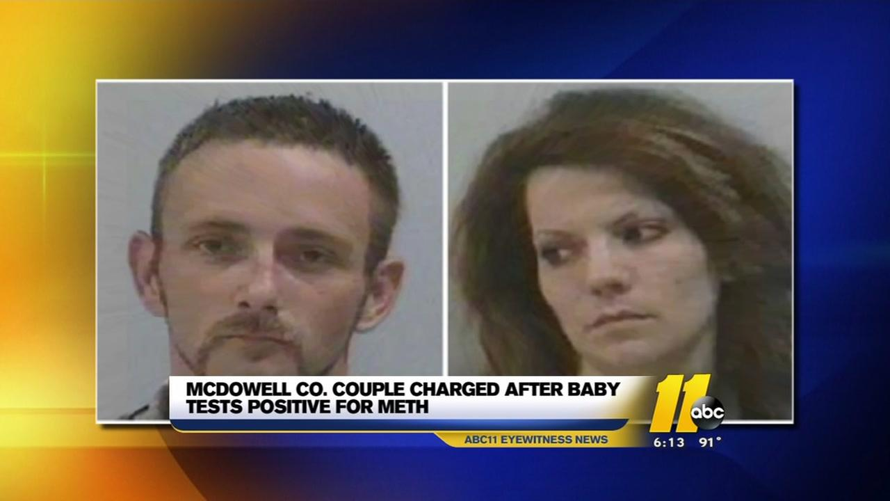 Couple charged after baby tests positive for meth