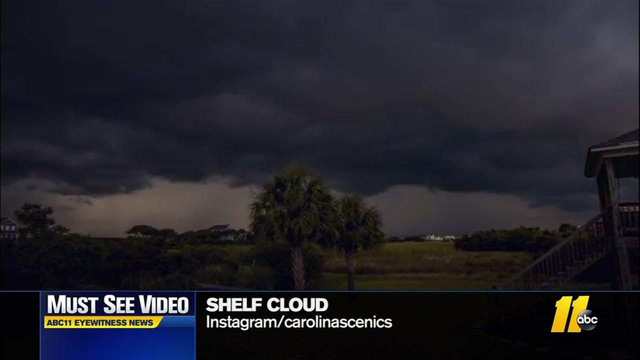 Must-see video: Storm cloud rolls in on NC coast