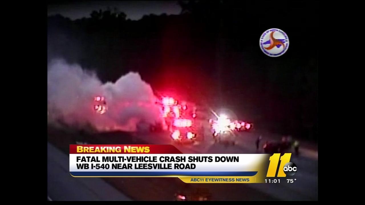 Fatal wreck shuts down WB I-540