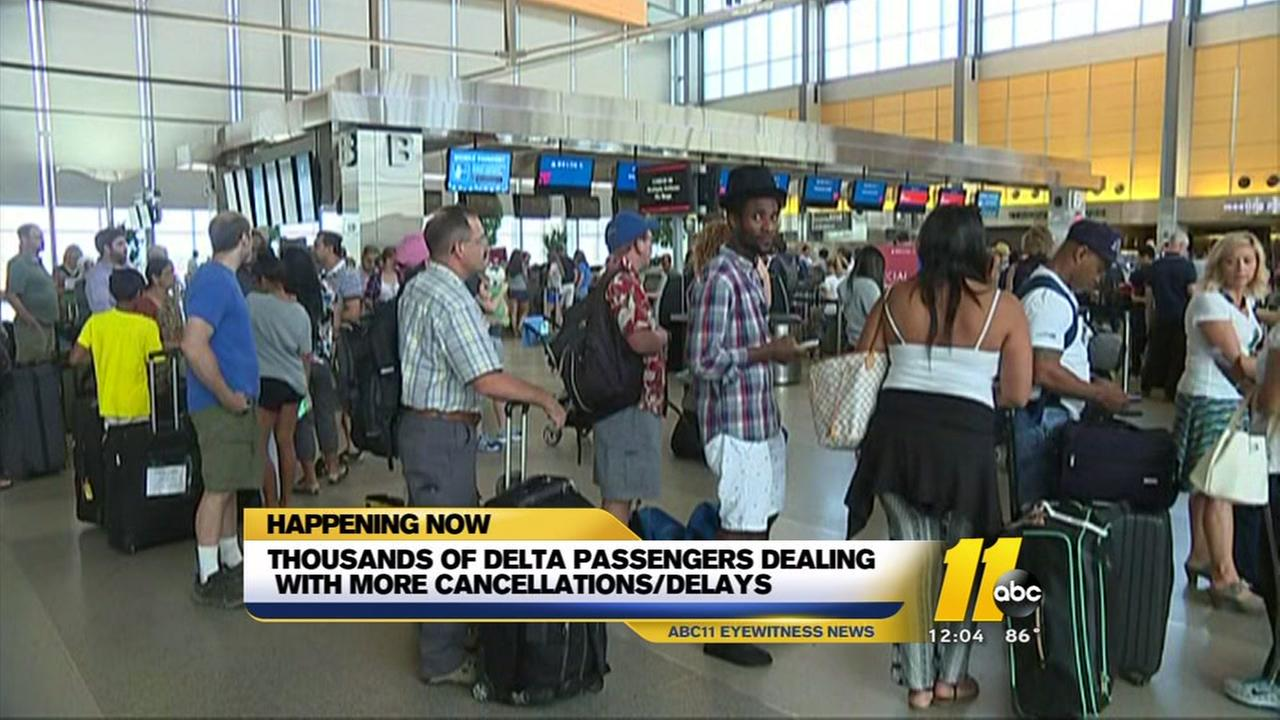 Delta travelers should expect more delays, cancellations today