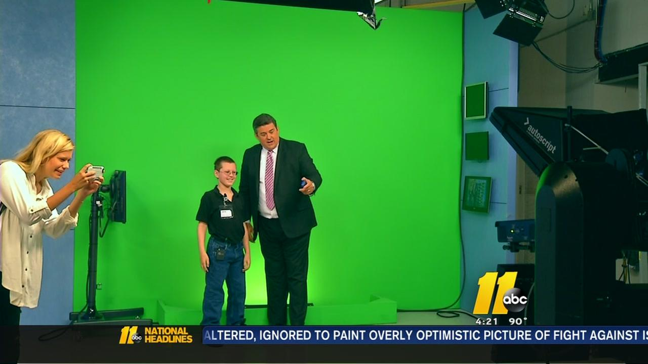 Boy becomes ABC11 weatherman