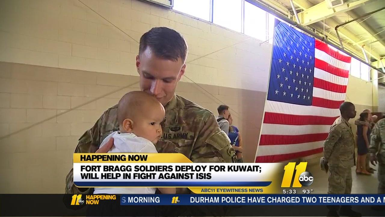 Fort Bragg soldiers set to deploy