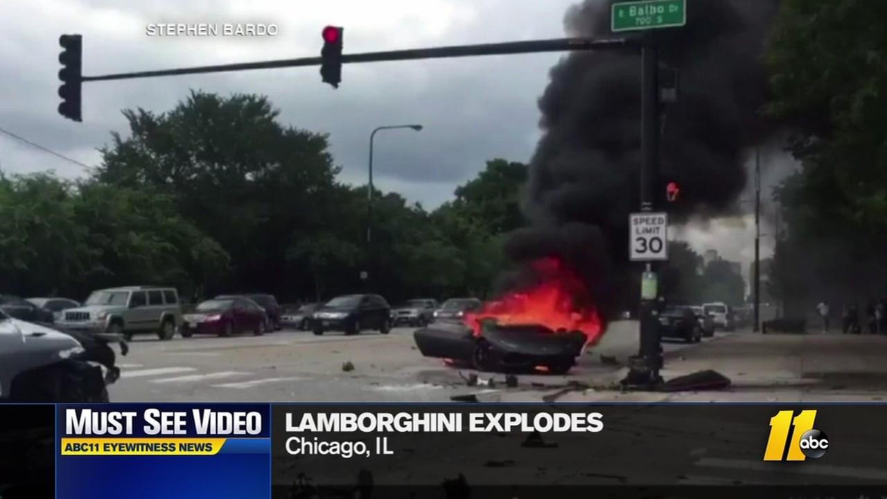 Must-see video: Lamborghini explodes