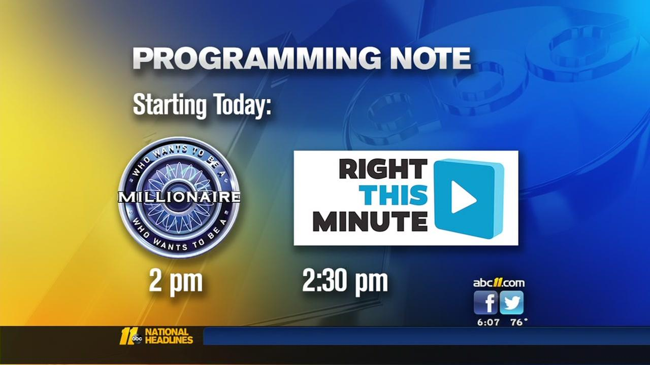 New afternoon lineup on ABC11