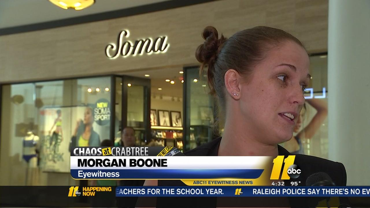 Morgan Boone helped people to safety in Crabtree chaos