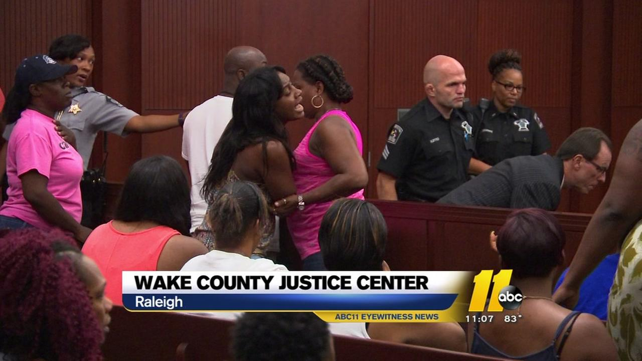Emotional outburst in the courtroom