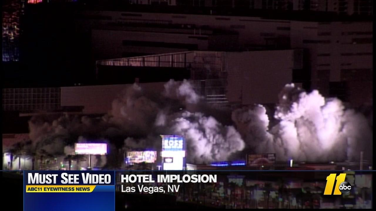 Casino tower tumbles down after Vegas Strip implosion
