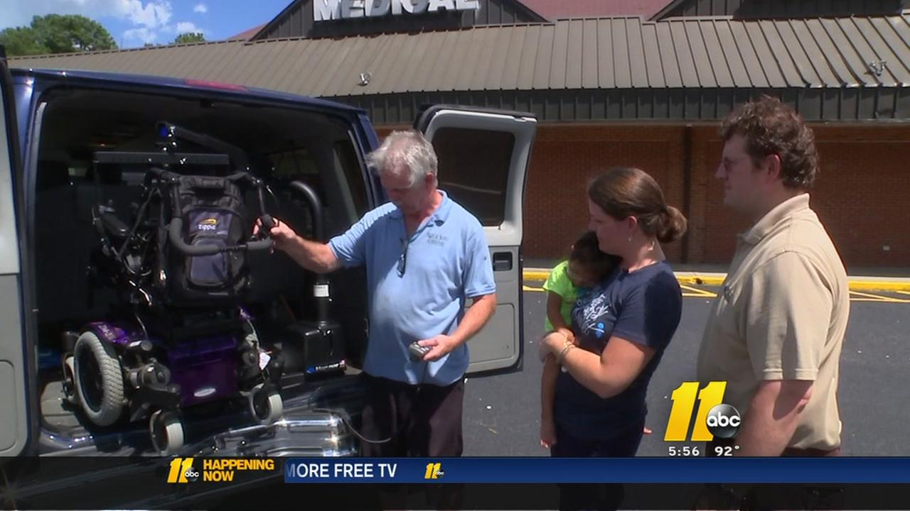 Family receives help with modified van
