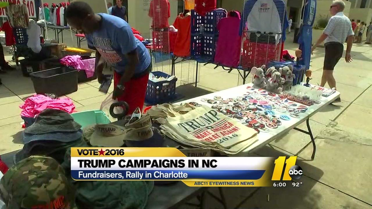 Donald Trump holds rally in Charlotte