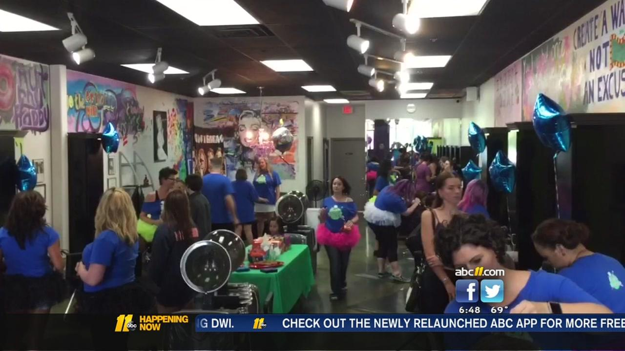 Charity cut-a-thon in Cary