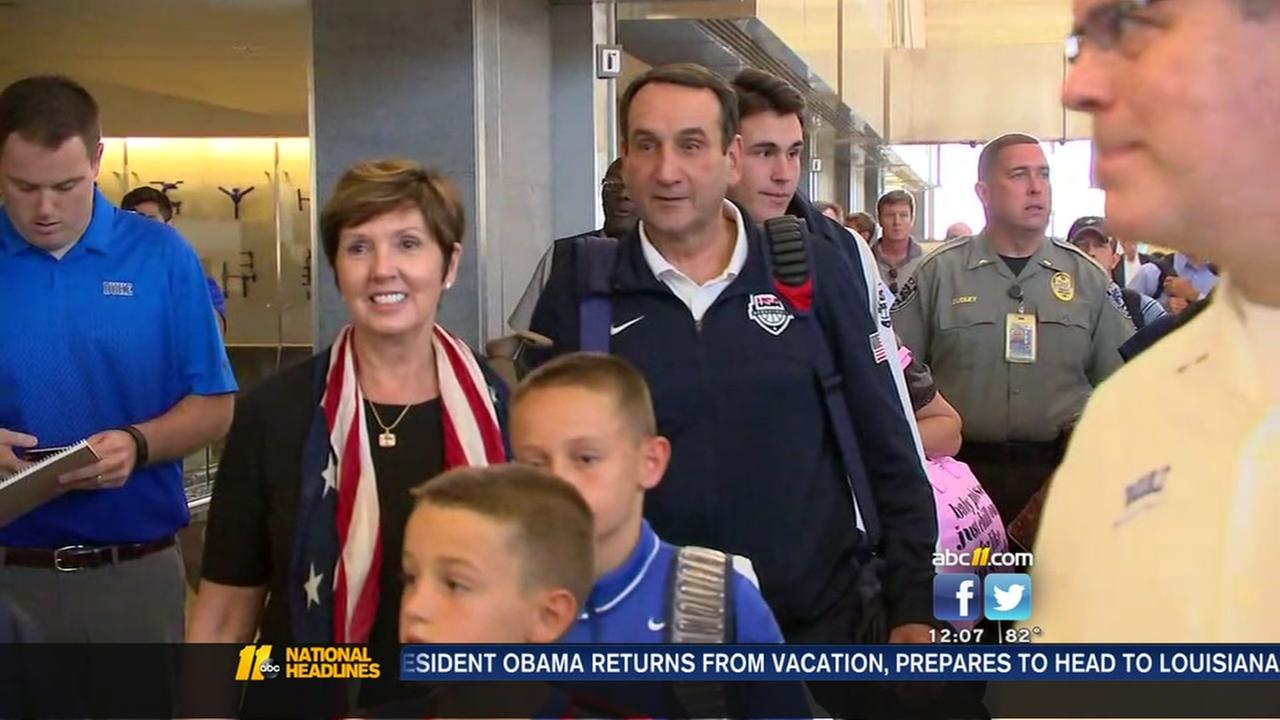 Victorious Coach K returns from Rio