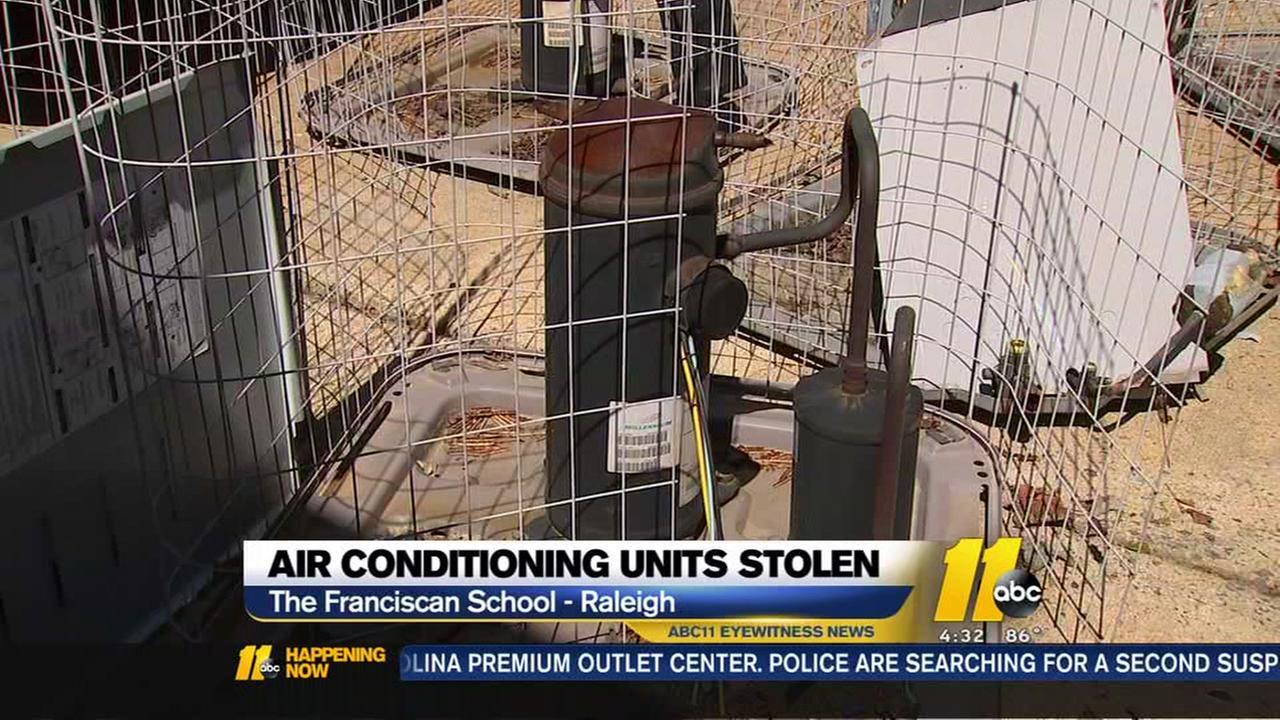 AC units stolen in Raleigh