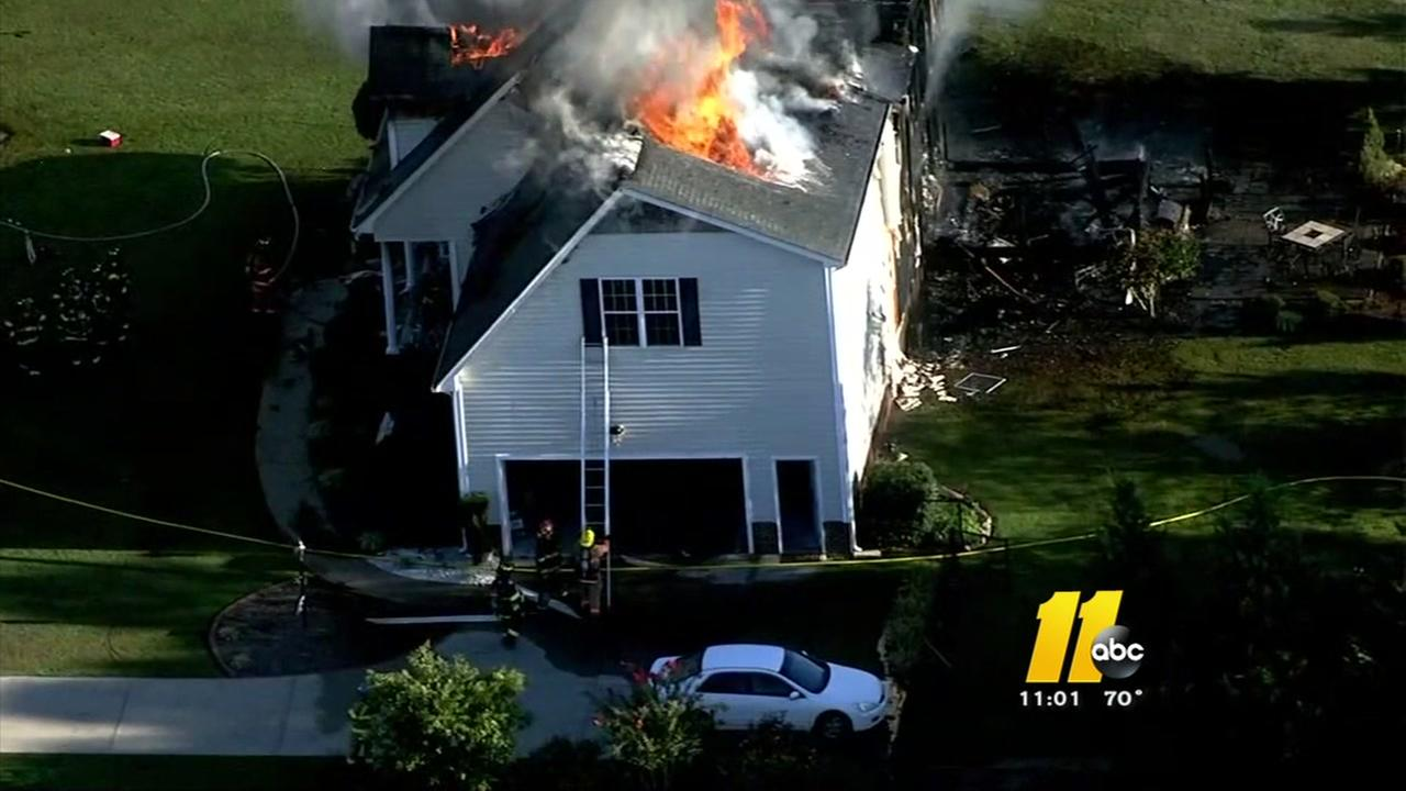 Fire destroys Wendell area home