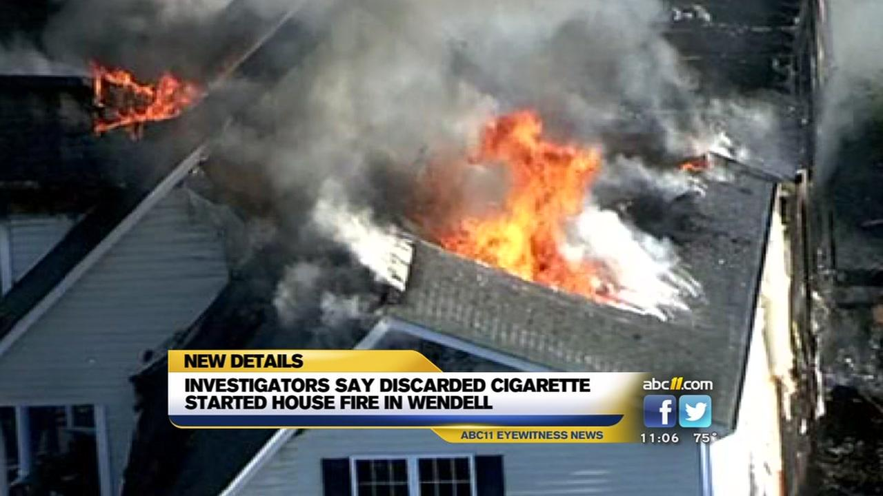 Discarded cigarette started house fire