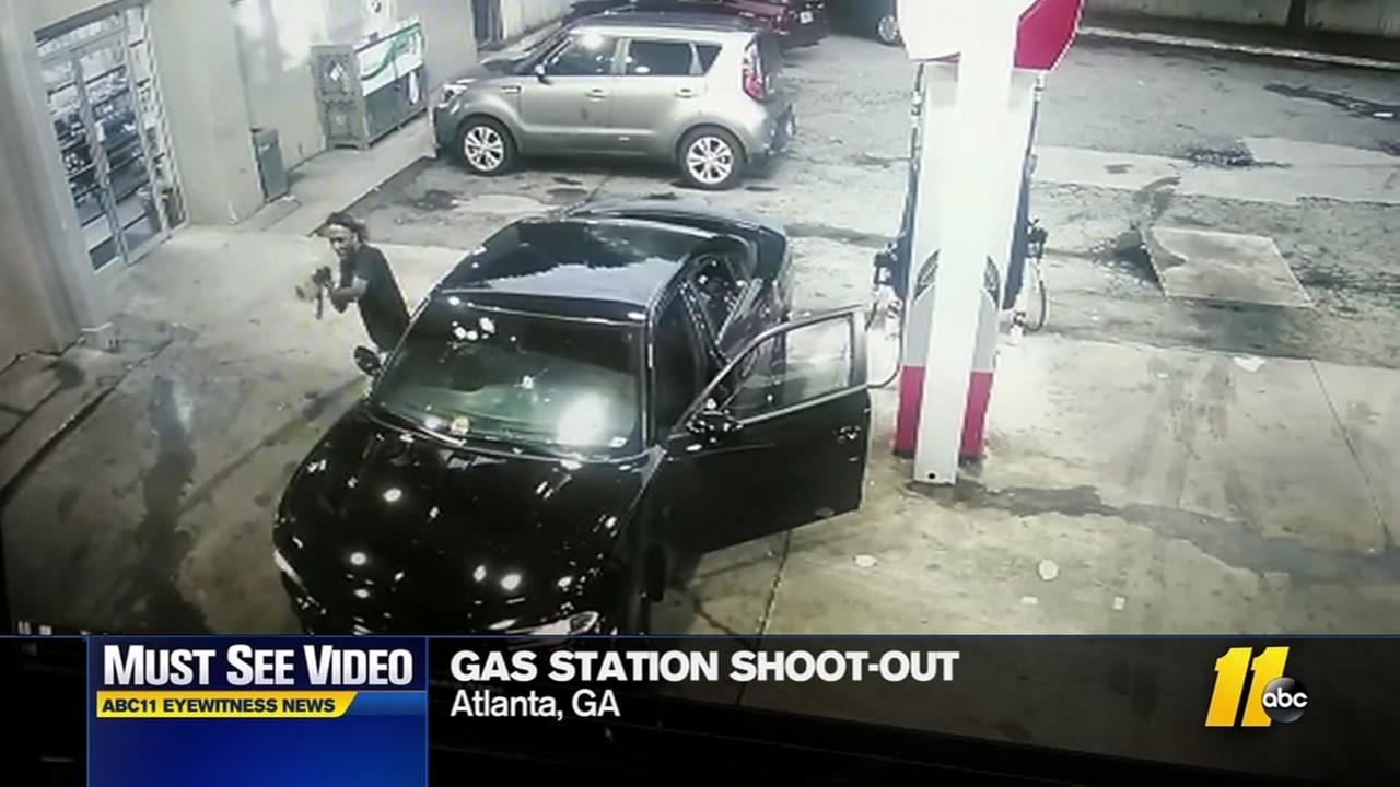 Gunfight at Atlanta gas station