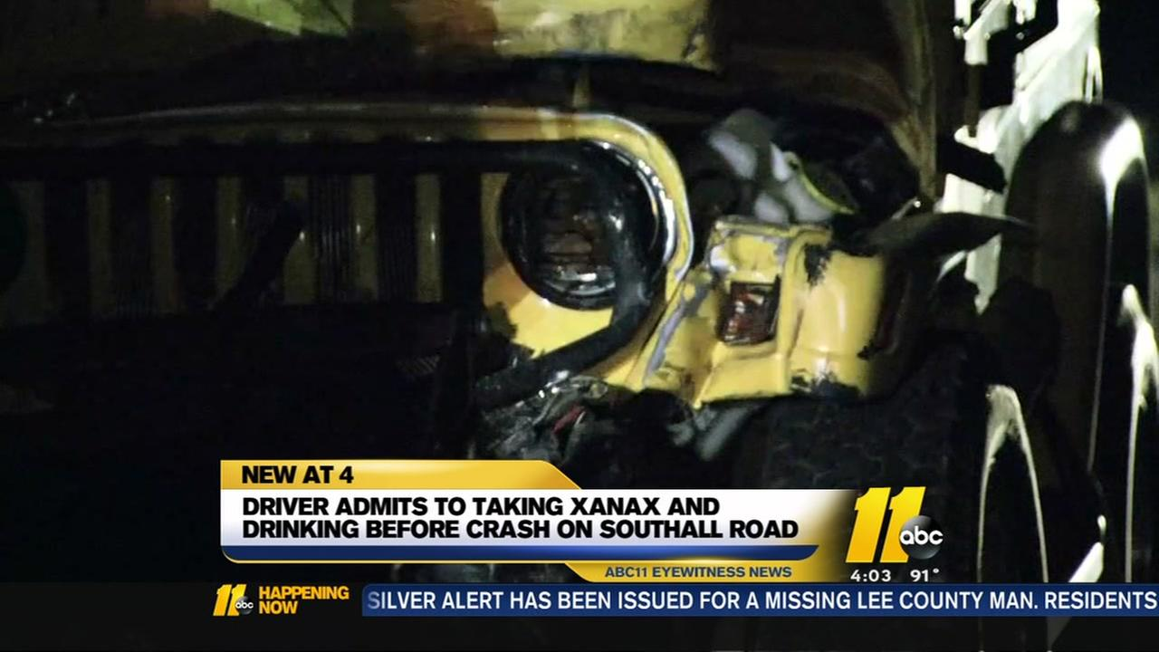 Driver admits taking Xanax and drinking before crash