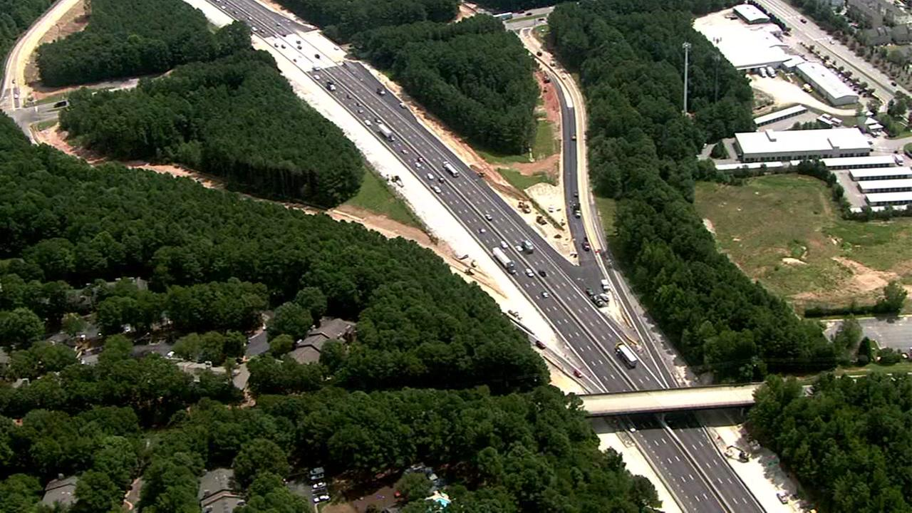 Eastbound I-40 exit 295 to Gorman Street in Raleigh