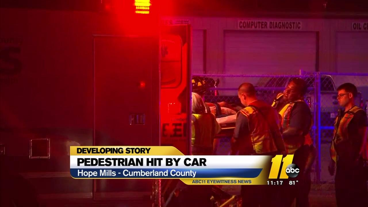 Pedestrian hit by car in Hope Mills