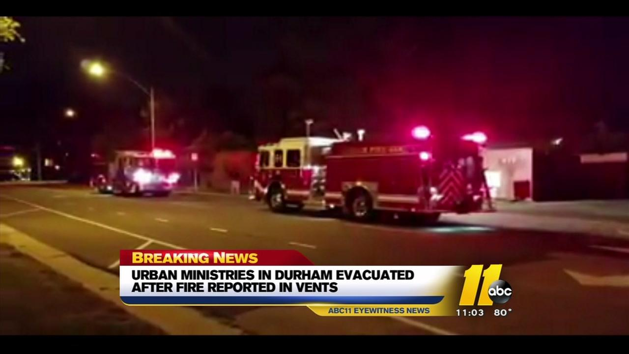 Vent fire reported at Durham Urban Ministries