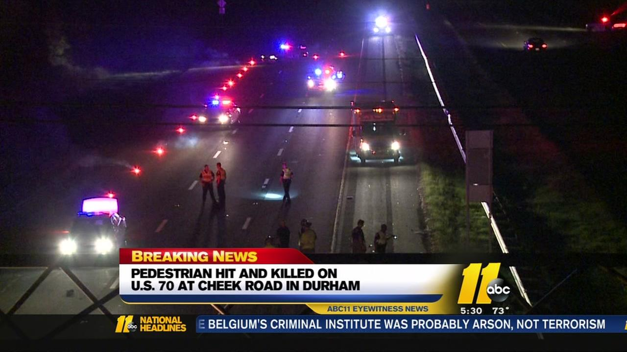 Pedestrian hit, killed in Durham