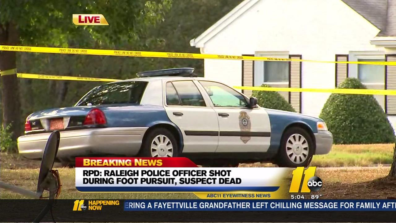 Raleigh police officer shot