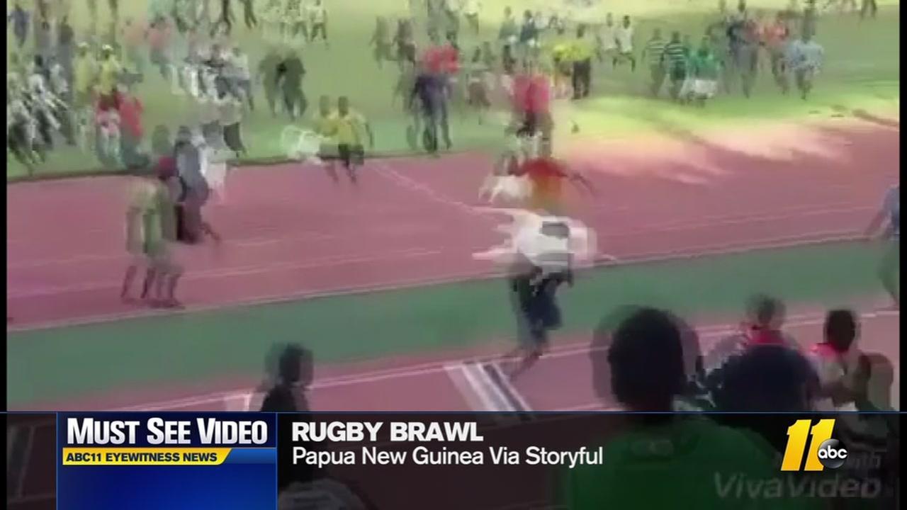 Rugby brawl