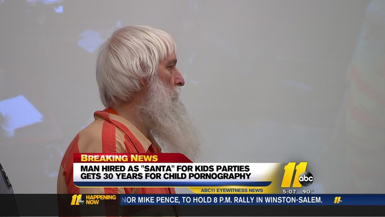 Man hired as Santa gets 30 years for child pornography