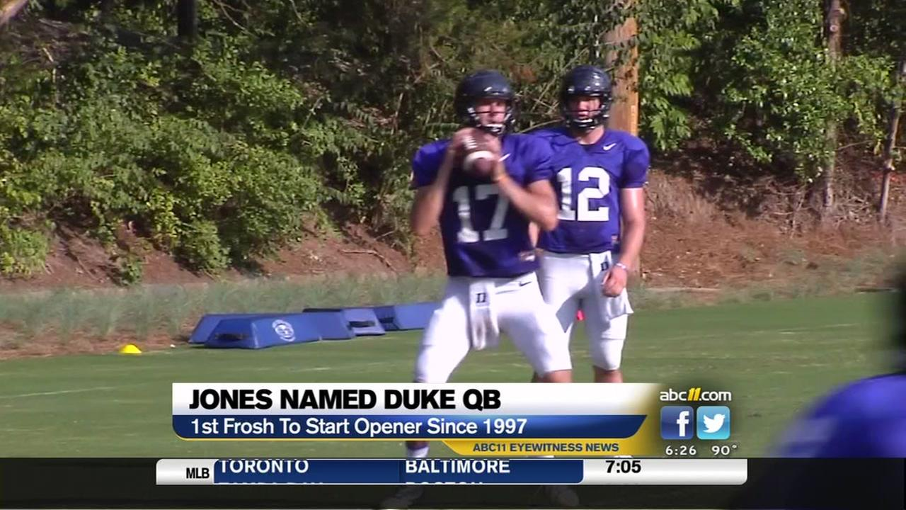 Freshman Daniel Jones named starting Duke QB