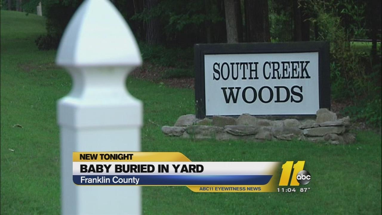 Baby found buried in backyard of home