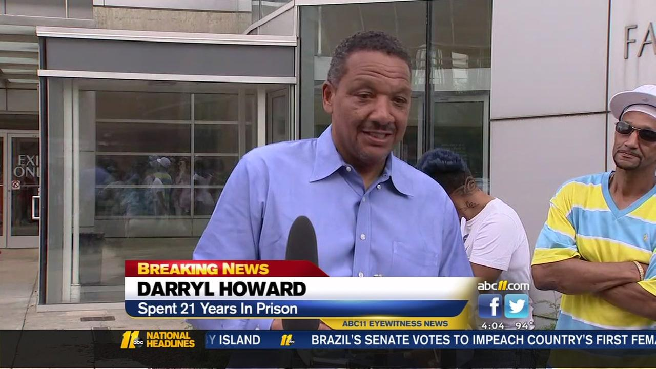 Darryl Howard freed after 21 years in prison