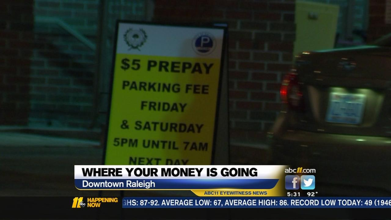 Where is the money going from Raleighs downtown parking fee?
