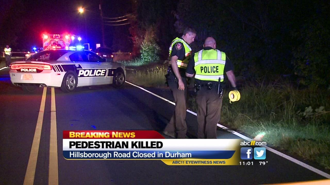 Pedestrian killed in Durham