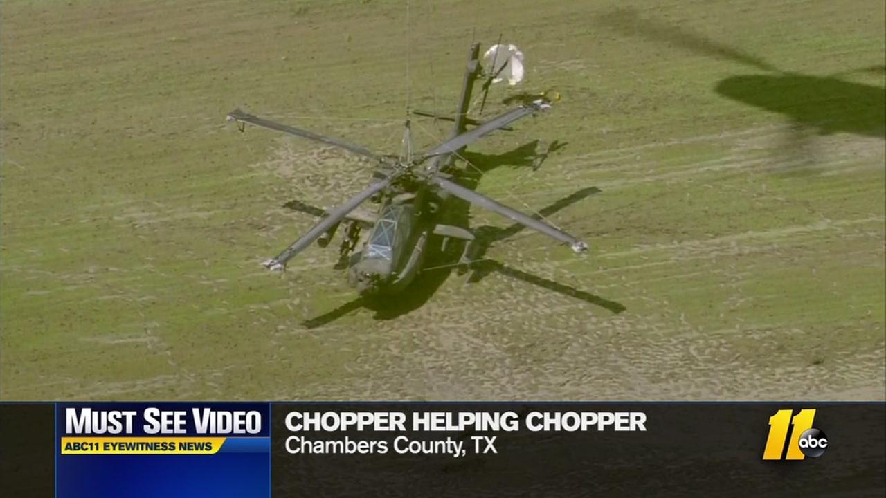 Chopper lifts chopper