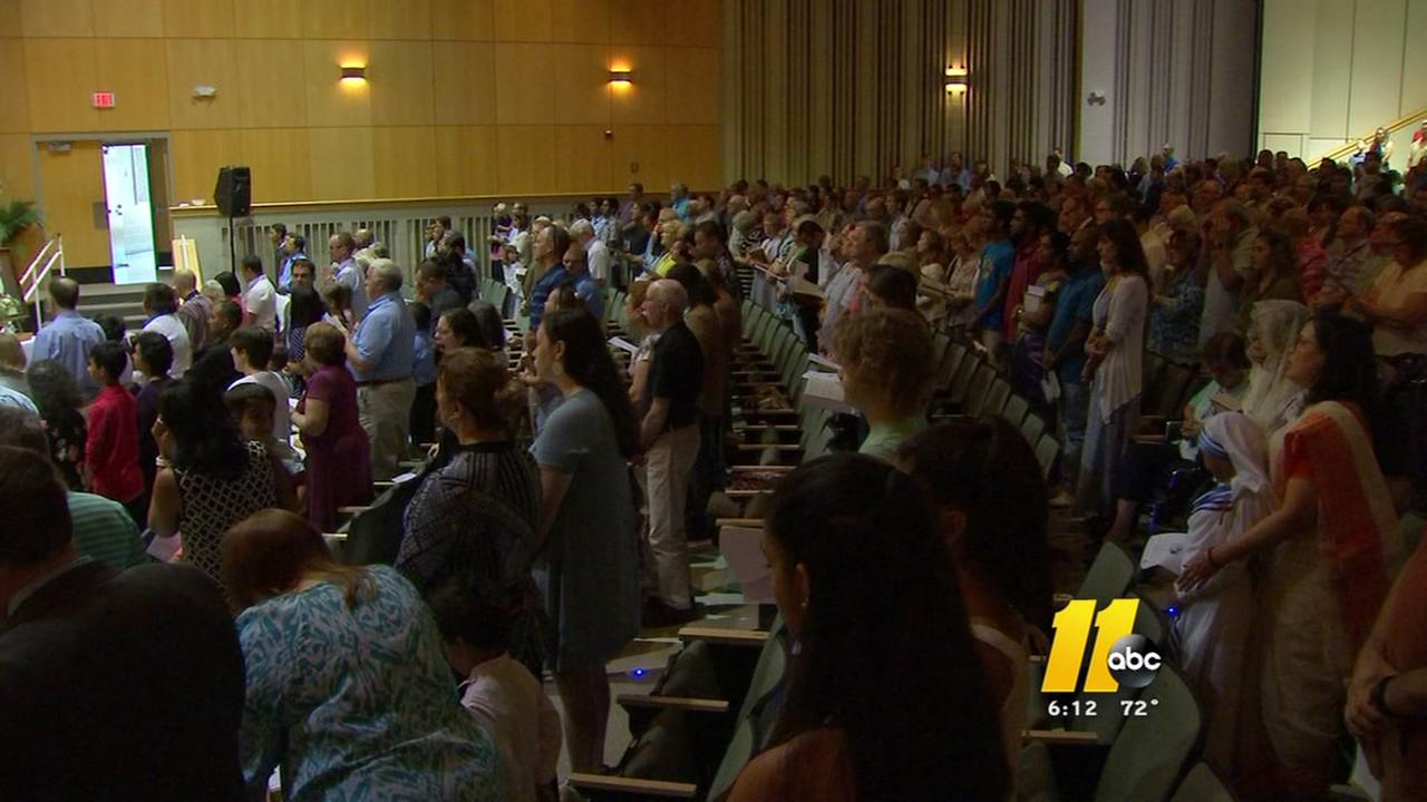 Triangle faithful celebrate Mother Teresa sainthood