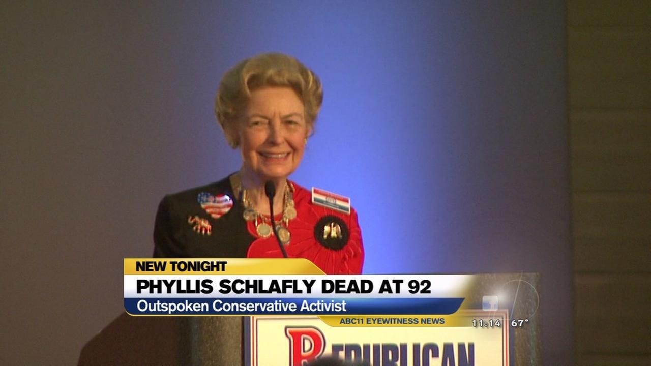 Phyllis Schlafly dies at 92
