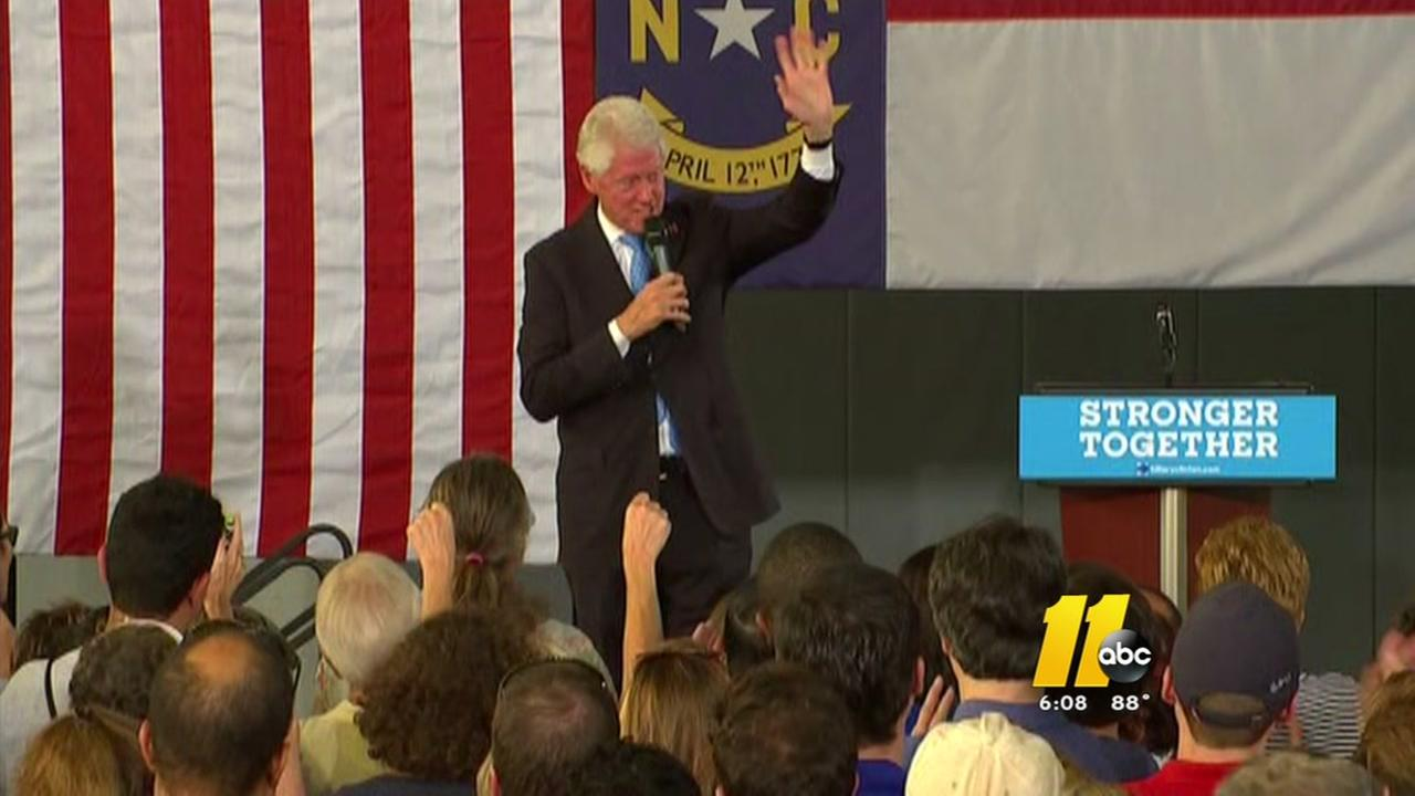 Former President Bill Clinton campaigns in Durham