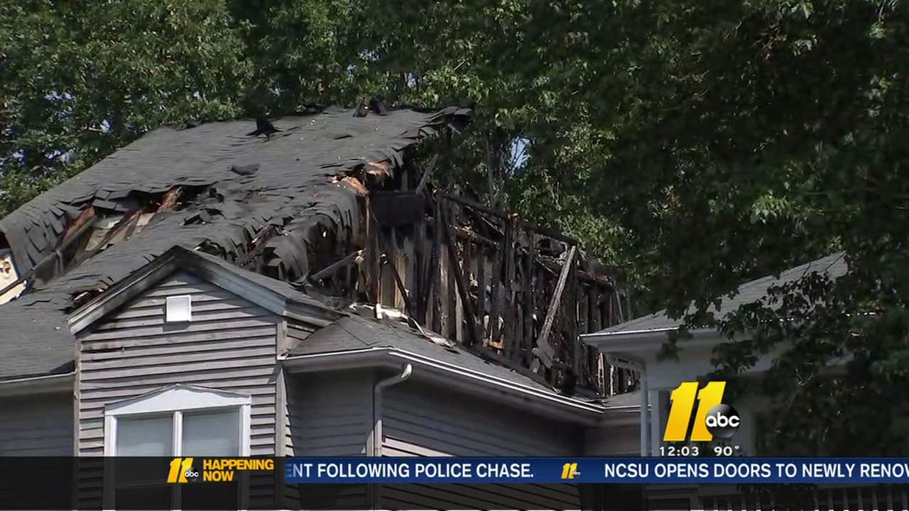 Fire rips through Cary apartments