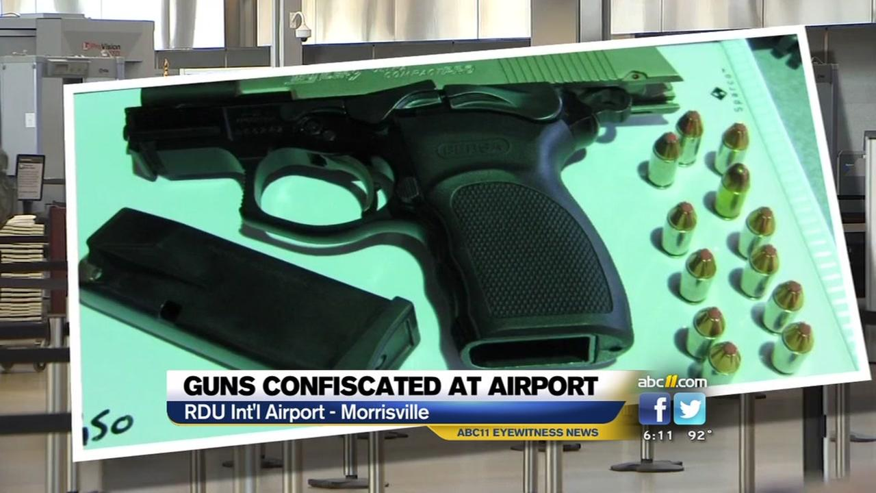 Rise in number of guns confiscated at RDU