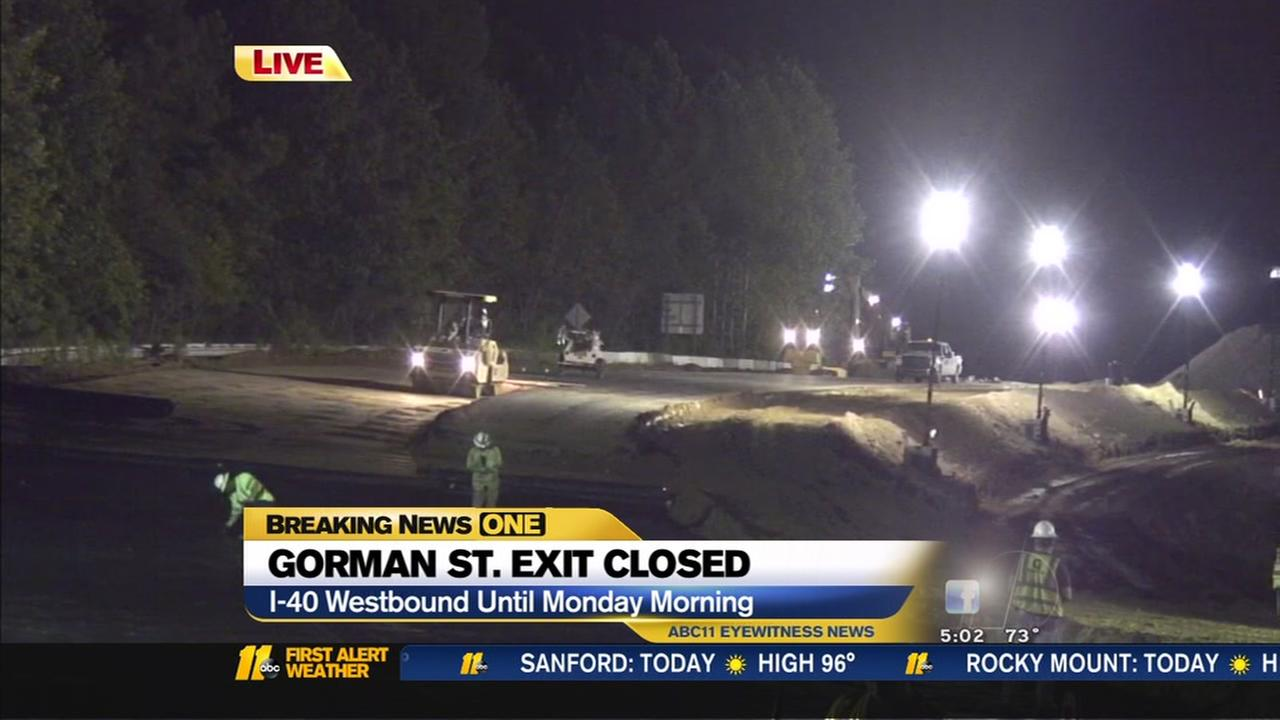 Gorman Street exit closed